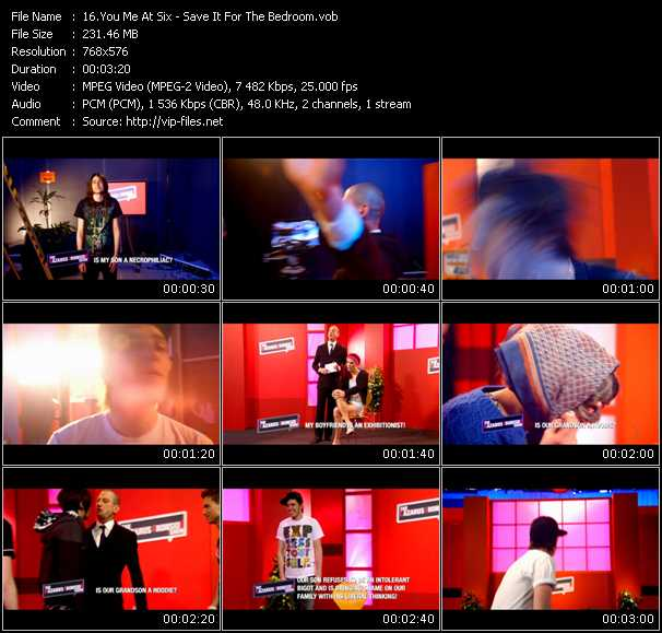 You Me At Six Video download - «Save It For The Bedroom ...
