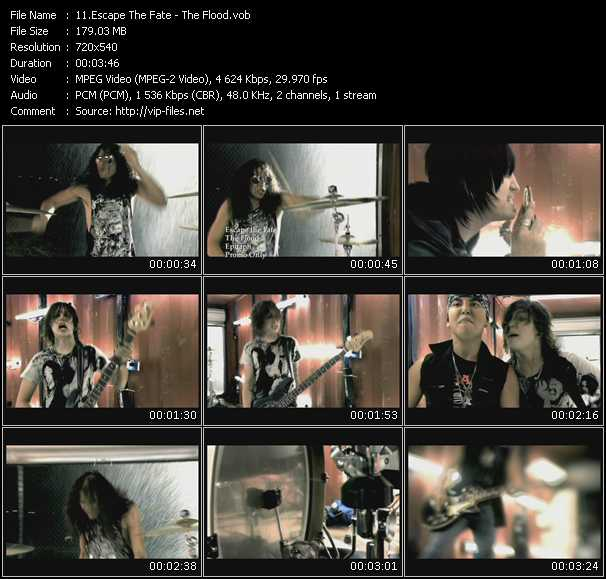 escape fate flood. Escape The Fate Video Clip