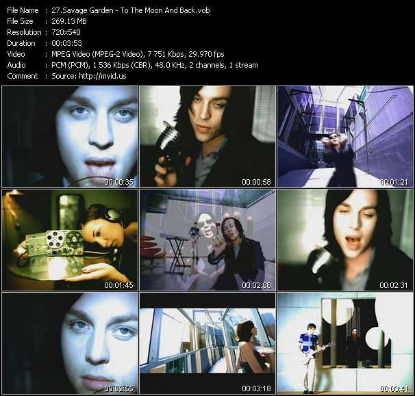 Savage garden video download to the moon and back video vob for Savage garden to the moon back