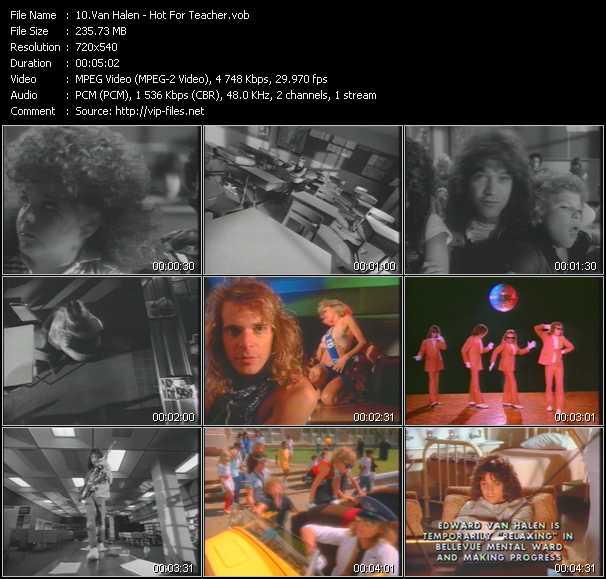 Van Halen - Video Clip(VOB): Hot For Teacher